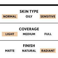 covergirl anti-aging light coverage foundation with radiant finish for normal to sensitive skin type