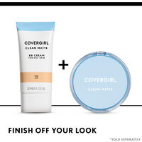 covergirl matte bb cream paired with clean matte pressed powder